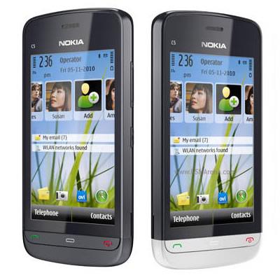 На европейском сайте Nokia появились сразу 2 новых смартфона - Nokia C5-06 и C5-05.
