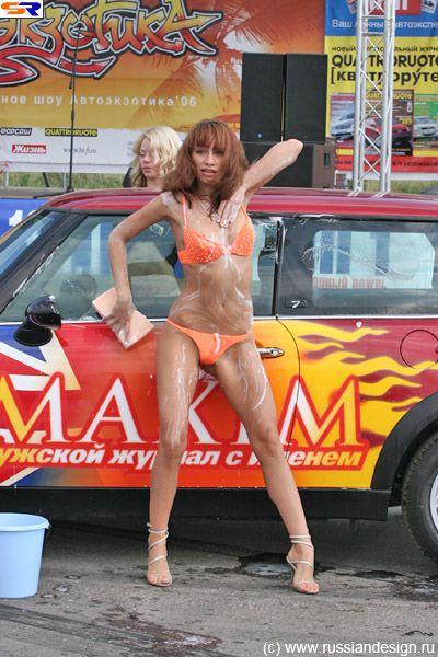 Автомойка с голыми девушками111