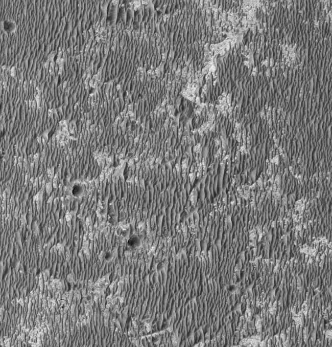 Марсианский орбитальный зонд сфотографировал своего коллегу на планете